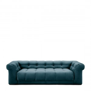 Sofa Cobble Hill Sofa 3,5 Seater, velvet, Petrol