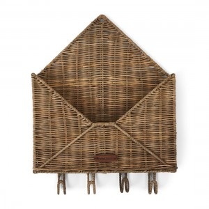 Organizer na klucze Rustic Rattan You've Got Mail