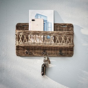 Organizer na klucze Rustic Rattan Hold My Keys Holder