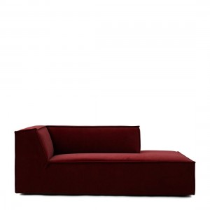 Sofa element The Jagger Chaise Lounge Right, velvet, vineyard burgundy