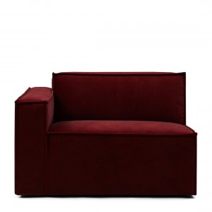 Sofa lewy element The Jagger Corner Left, velvet, vineyard burgundy
