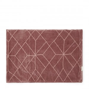Pled Ballad Mauve Velvet Quilted Throw 180x130