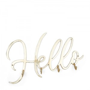 Wieszak Hello Coatrack soft gold