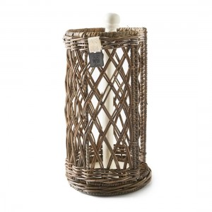 Stojak na ręcznik kuchenny Rustic Rattan Kitchen Roll Holder