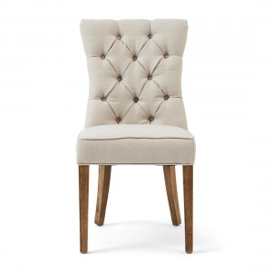 Krzesło Balmoral Dining Chair, oxford weave, flanders flax