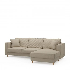 Narożnik Kendall Sofa with Chaise Longue Right, oxford weave, flanders flax