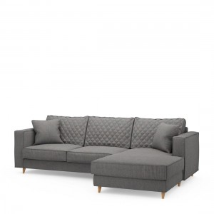 Narożnik Kendall Sofa with Chaise Longue Right, oxford weave, classic charcoal