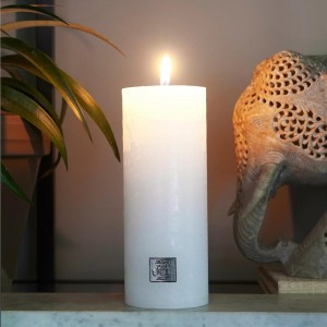 Świeca Rustic Candle frosted white 7x18