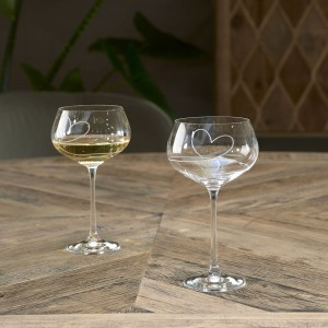 Kieliszek With Love White Wine Glass