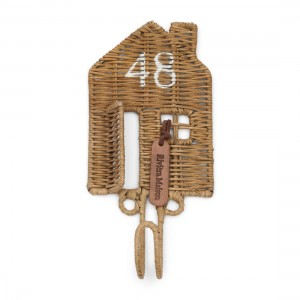 Wieszak Rustic Rattan Happy Home Hook