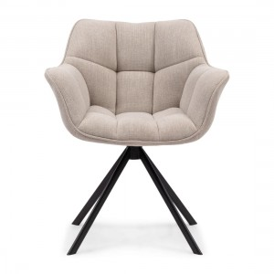 Fotel Carnaby Dining Armchair, mouline linen, fabulous flax
