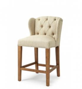 Hoker Keith II Lowback Counterstool, linen, flax