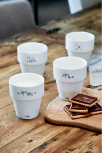 Zestaw You & Me Stackable Milk Mugs