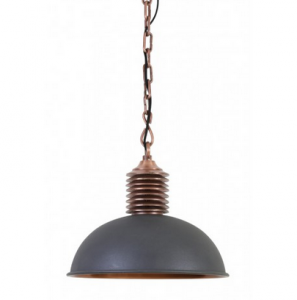 Lampa AMELY industrial grey/antique copper