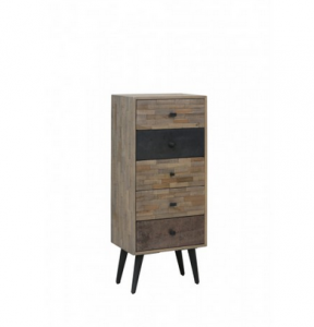 Komoda BARICO weathered wood-antique grey