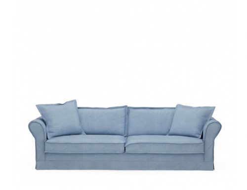 Sofa Carlton 3,5 Seater, washed cotton, ice blue